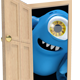 Blue Monster Mascot Behind Door - GraphicRiver Item for Sale
