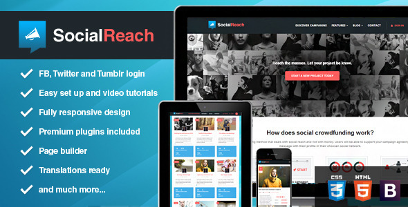 ThemeForest Social Reach The Crowd-Speaking Wordpress Theme 7200256