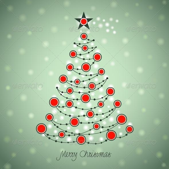 Graphic River Christmas Tree  Vectors -  Conceptual  Seasons/Holidays  Christmas 754742