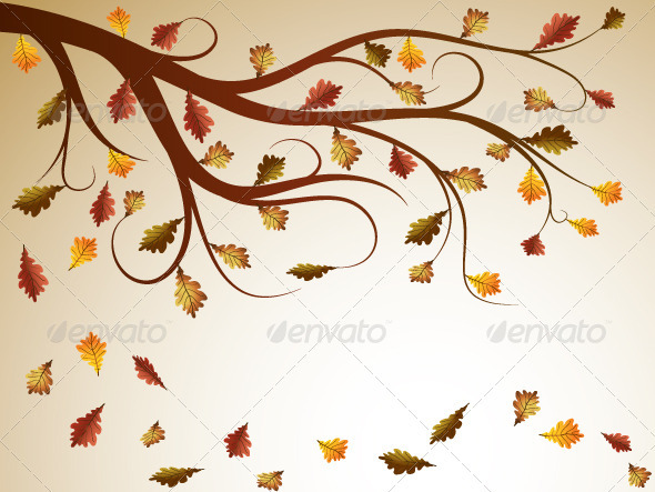 Graphic River Oak Tree Vectors -  Conceptual  Nature  Seasons 754785