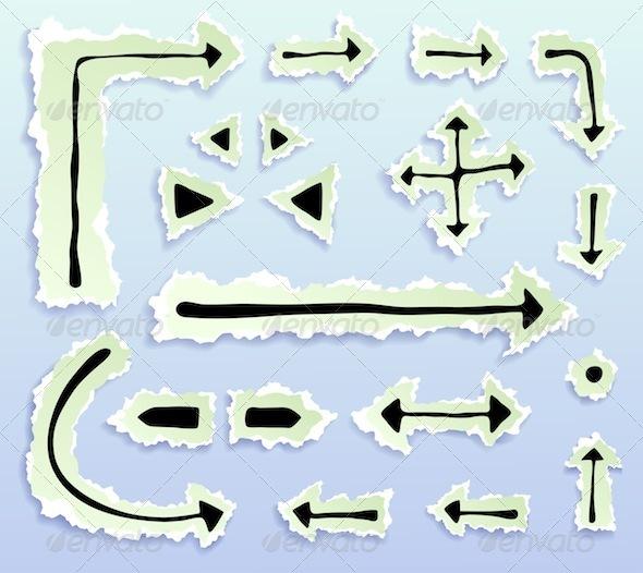 Graphic River Doodle Arrows Vectors -  Decorative  Decorative Symbols 754787