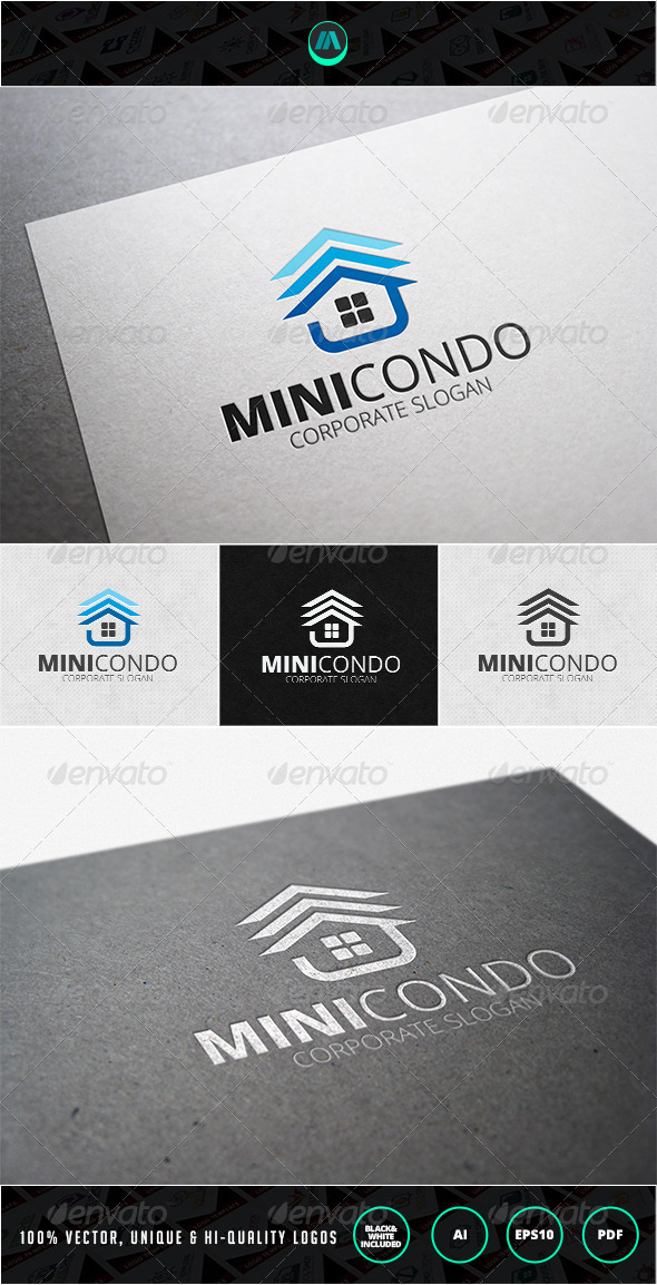 GraphicRiver Mini Condo Logo Template 7200467