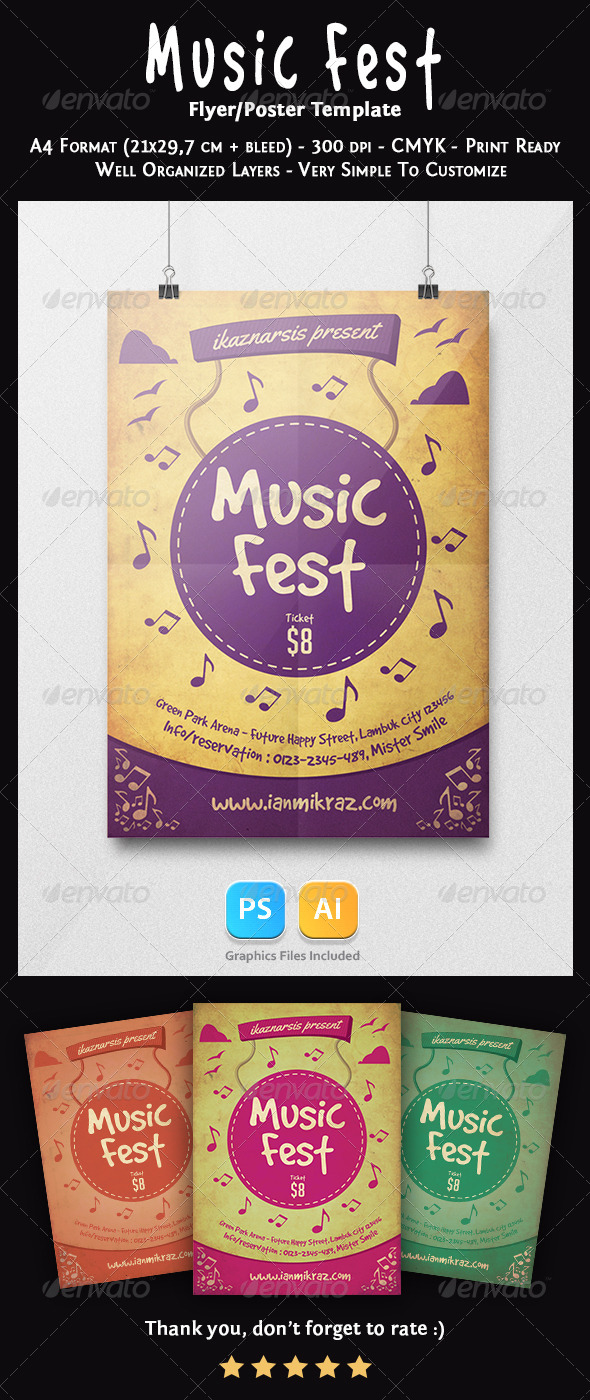 GraphicRiver Music Fest Flyer Template 7200468
