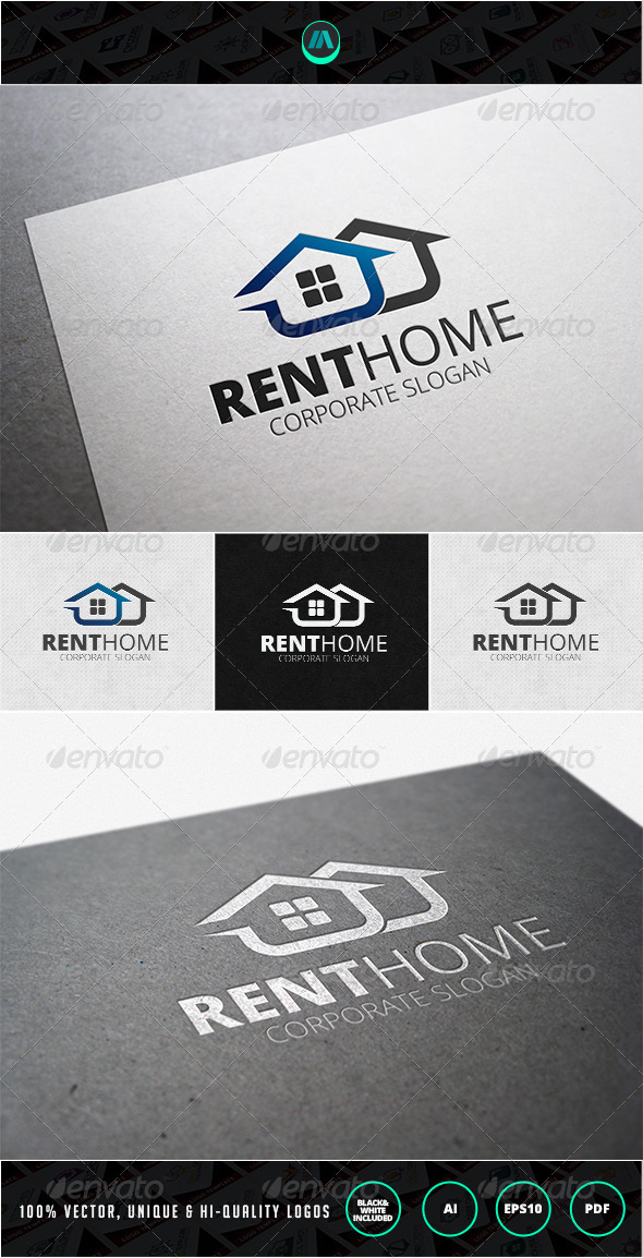 GraphicRiver Rent Home Logo Template 7200491