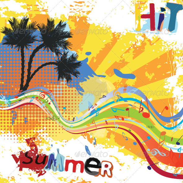Graphic River Summer Party Design Vectors -  Conceptual  Nature  Seasons 754807