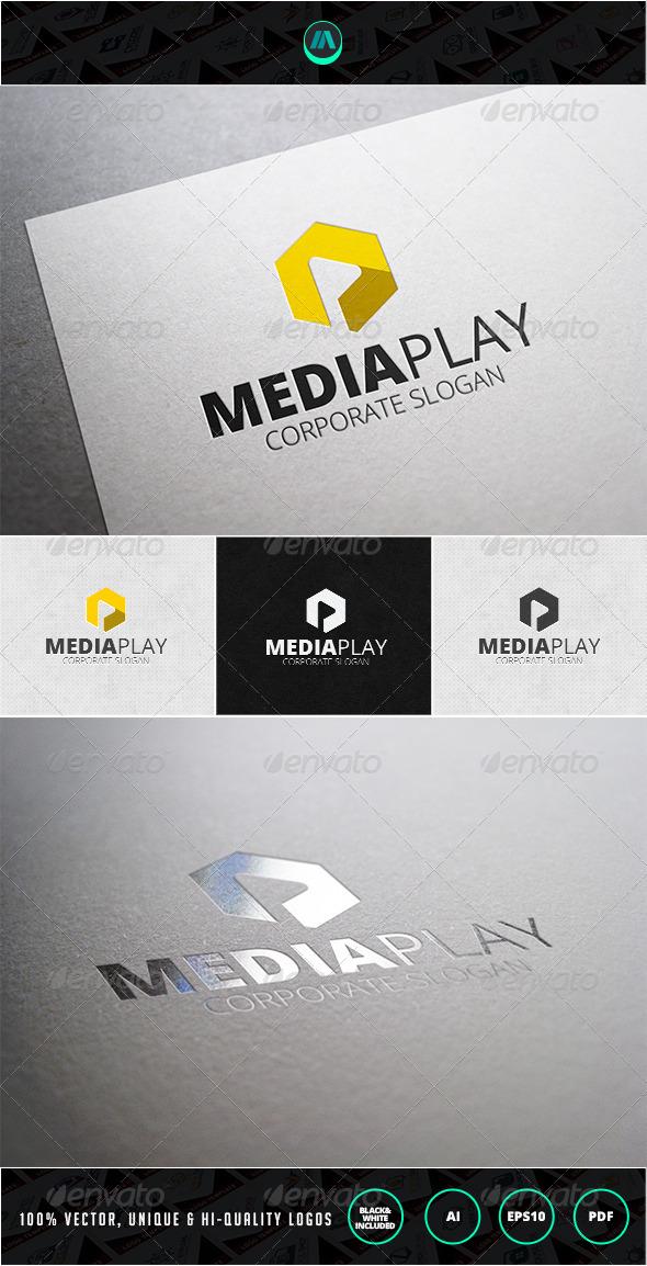 GraphicRiver Media Play Logo Template 7200717