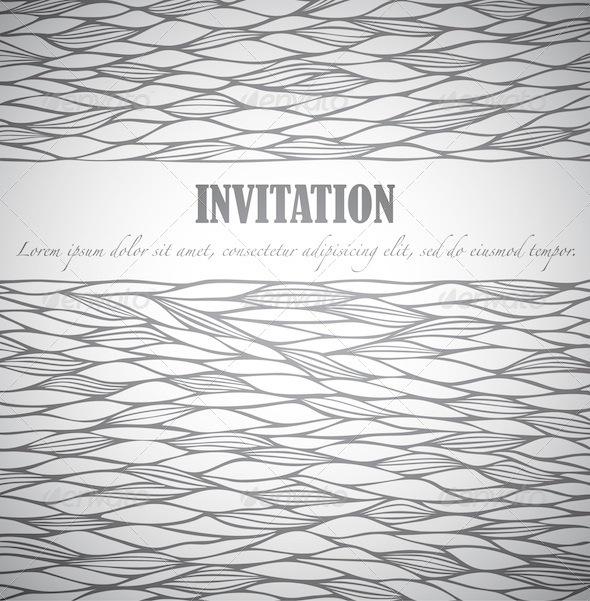Graphic River Doodle Invitation Print Templates -  Cards & Invites  Invitations 754814