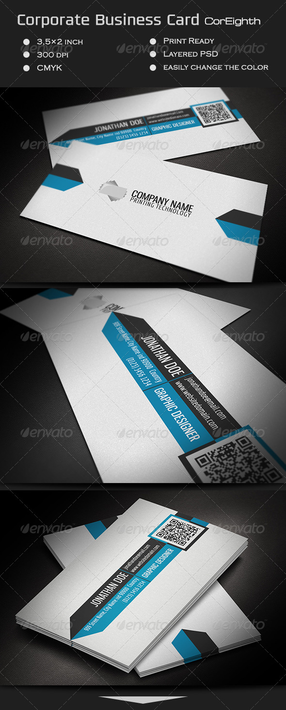 GraphicRiver Corporate Business Card CorEighth 7201480