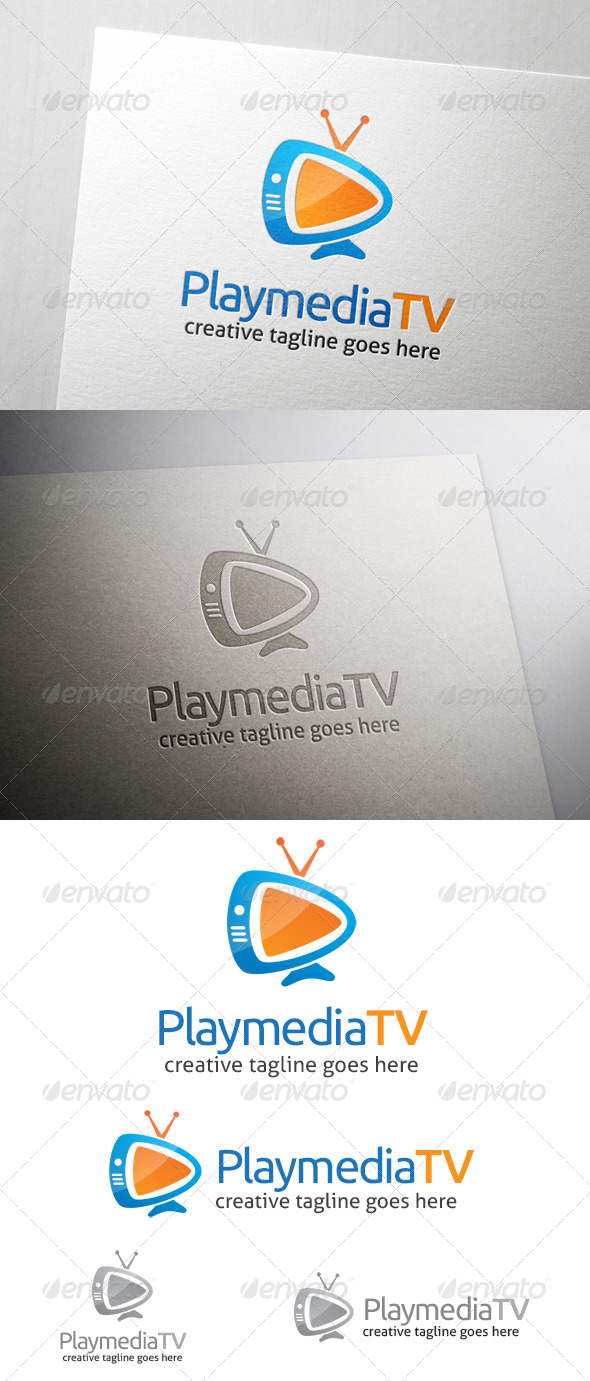 GraphicRiver Play Media TV Logo 7201516