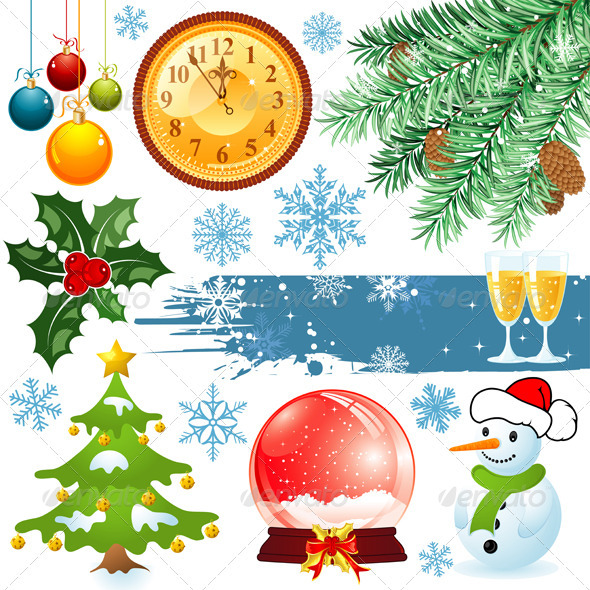 Graphic River Christmas set Vectors -  Conceptual  Seasons/Holidays  Christmas 755047