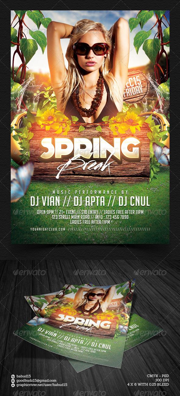 GraphicRiver Spring Break Flyer Template 7201722