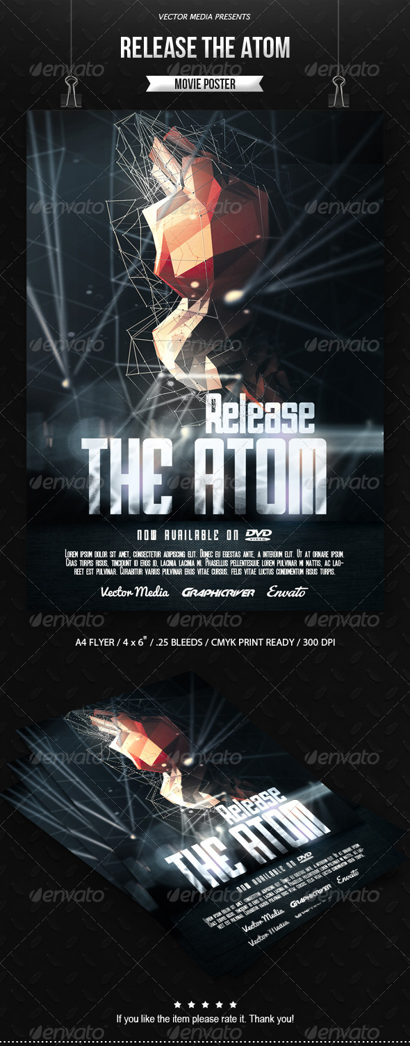 GraphicRiver Release The Atom Movie Poster 7201723