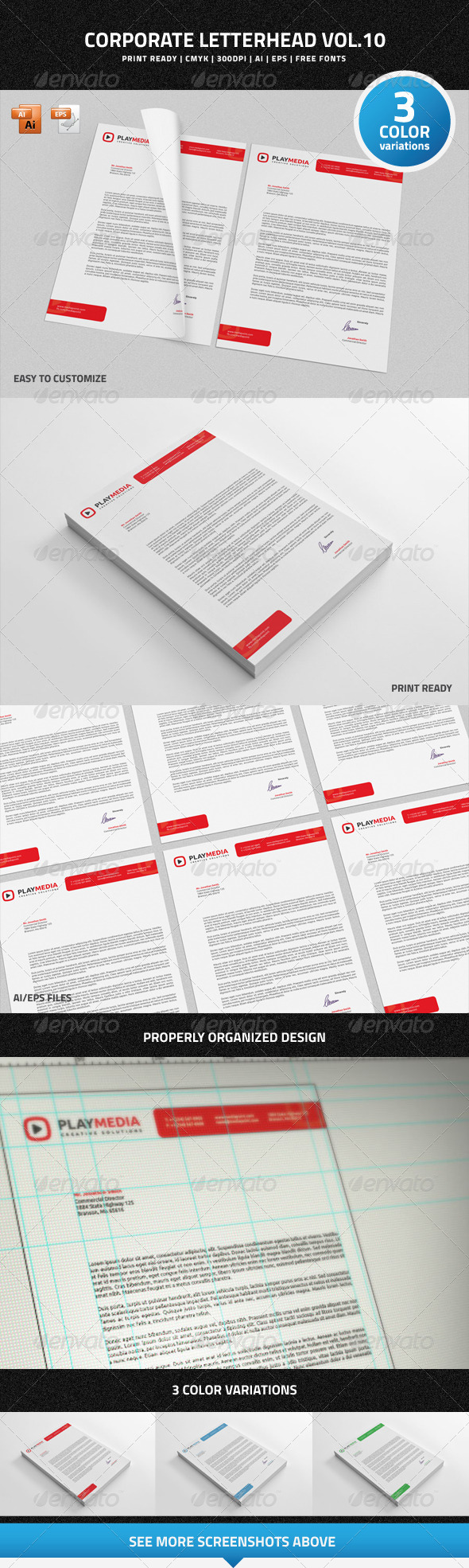 GraphicRiver Corporate Letterhead vol.10 7201777