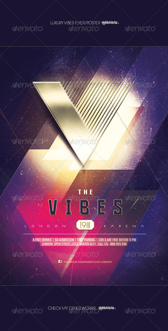 GraphicRiver Gold Vibes Luxury Party Poster Flyer 7202394