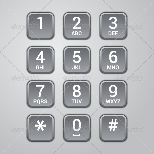 GraphicRiver User interface keypad for phone Vector 7202455