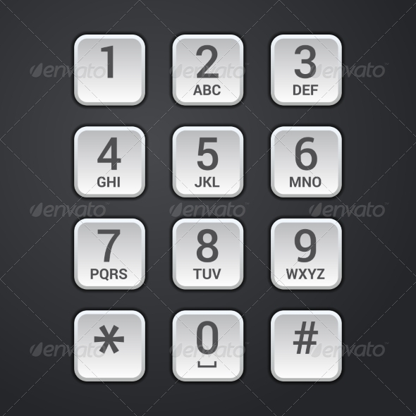 GraphicRiver Digital dial plate of security lock or telephone k 7202577