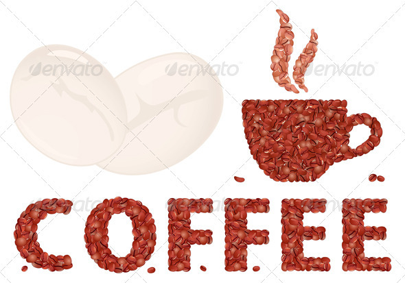 Graphic River Coffee cup and Letter Vectors -  Objects  Food 755144