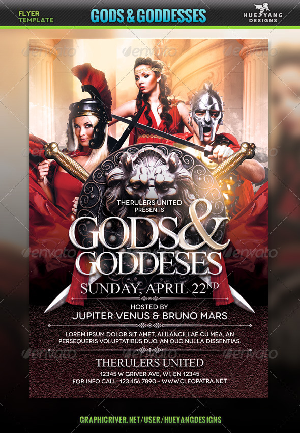GraphicRiver Gods And Goddesses Flyer 7203125