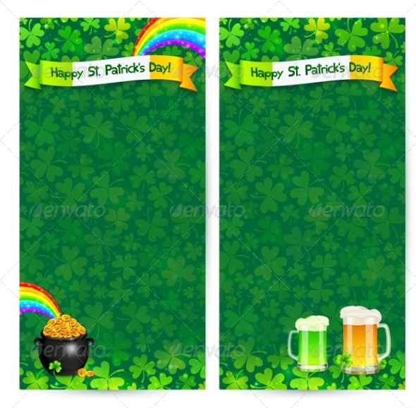 GraphicRiver Green Patrick s Day Flyer Templates 7203137