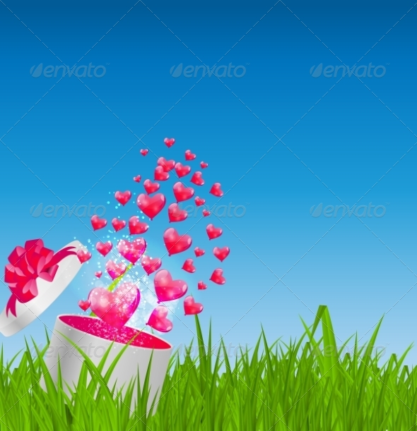 GraphicRiver Glossy Balloons on Drass Field Vector Illustration 7203201