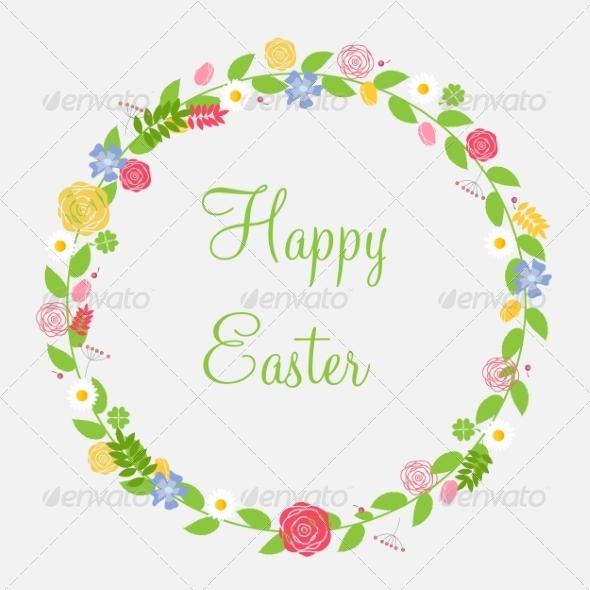 GraphicRiver Easter Background Vector Illustration 7203221