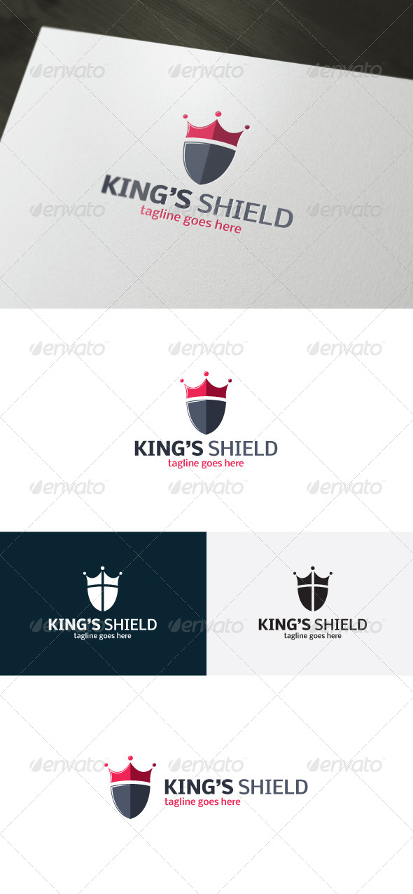 GraphicRiver Kings Shield Logo 7203257