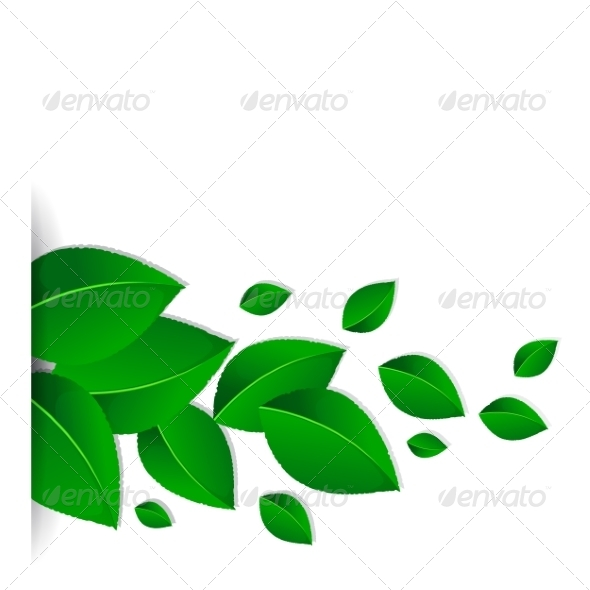 GraphicRiver Background with Green Leaves 7203429