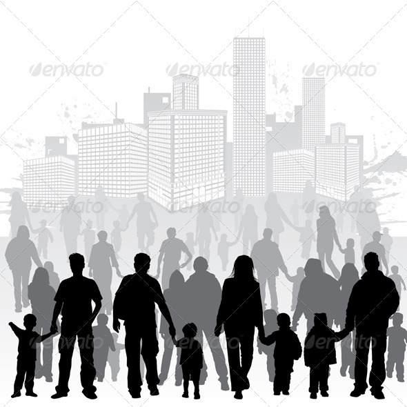 Graphic River Collect Family Silhouettes Vectors -  Characters  People 755293