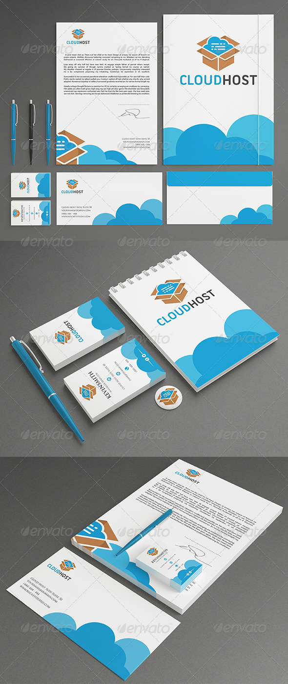 GraphicRiver Cloud Stationery 7203442