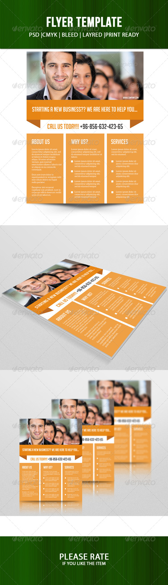GraphicRiver Business Flyer Template 7203448
