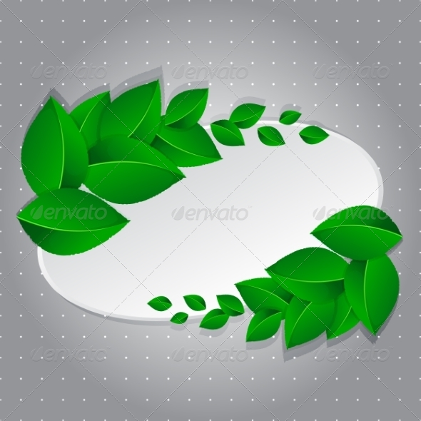 GraphicRiver Frame with Green Leaves 7203464