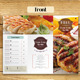 Trifold Simple Food Menu - GraphicRiver Item for Sale