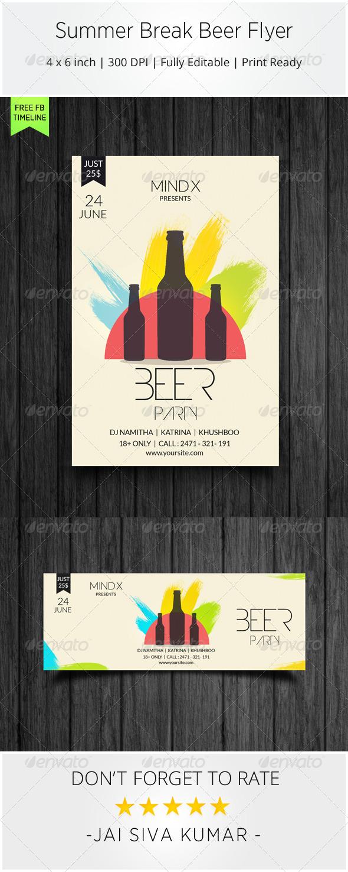 GraphicRiver Summer Break Beer Flyer 7203794