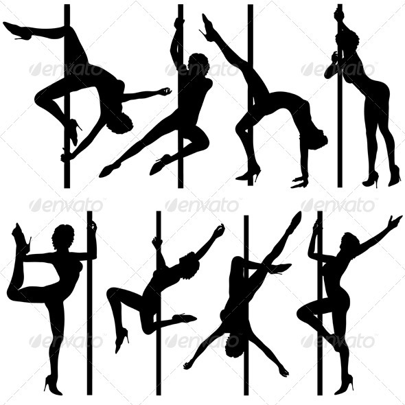 Graphic River Collect dancing silhouettes Vectors -  Characters  People 755316