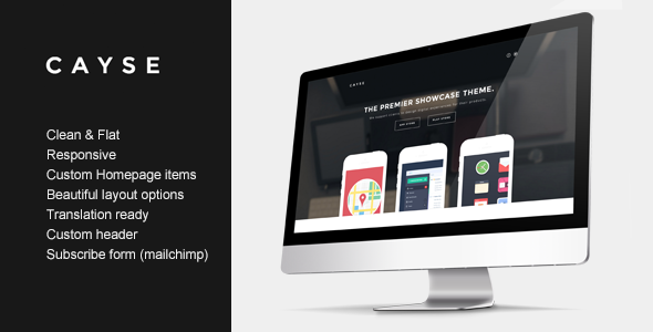 ThemeForest Cayse Clean Product Landing Page 7103299