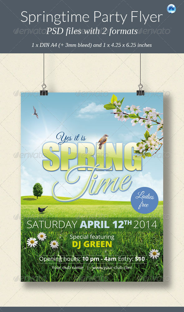 GraphicRiver Springtime Party Flyer 7204555