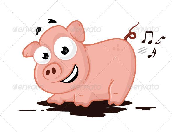 GraphicRiver Pig Musician 7204557