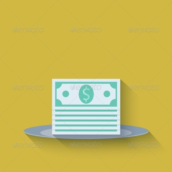 GraphicRiver Modern Flat Money Background 7204723