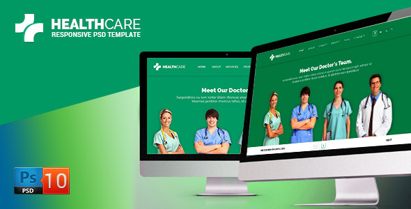 ThemeForest Health Care PSD Template 6517463