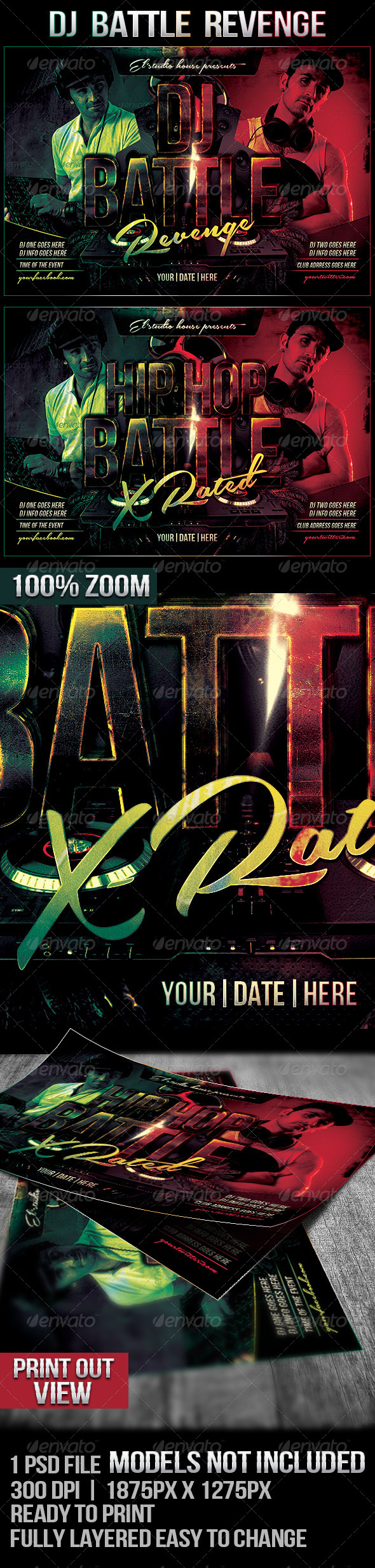 GraphicRiver Dj Battle Revenge Rave Flyer 7205030