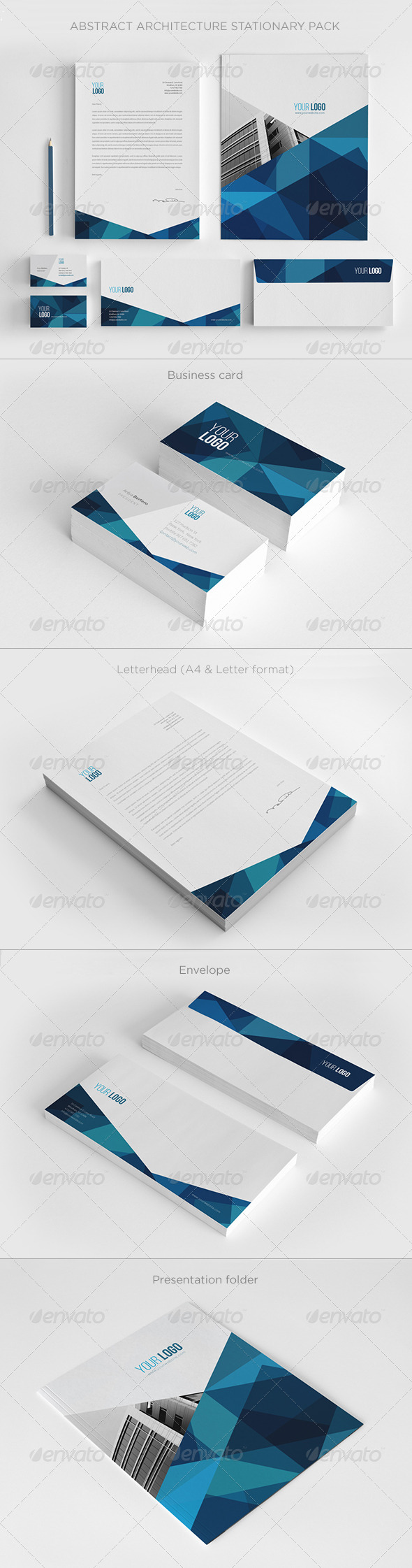 GraphicRiver Abstract Architecture Stationery Pack 7205071
