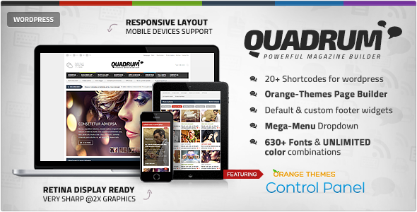 ThemeForest Quadrum Multipurpose News&Magazine Theme 7205094