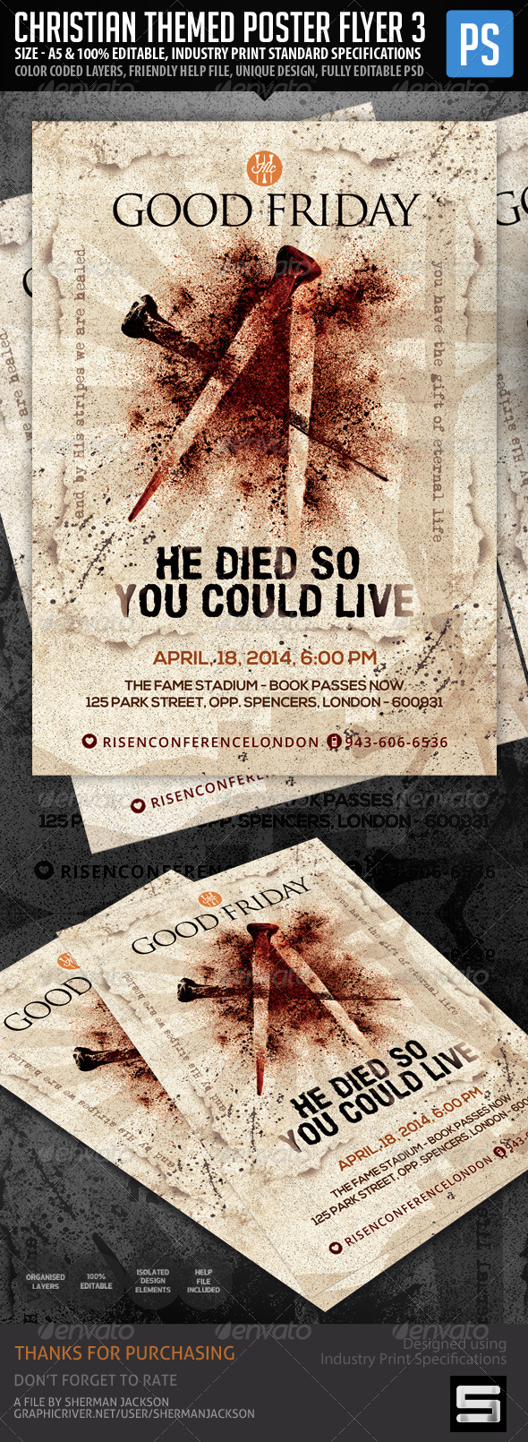 GraphicRiver Church Christian Themed Poster Flyer Vol.3 7206108