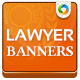 Banner Set for Lawyers - GraphicRiver Item for Sale