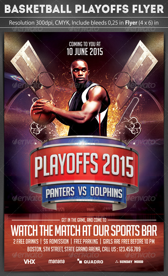 GraphicRiver Basketball Playoffs Flyer 7206291