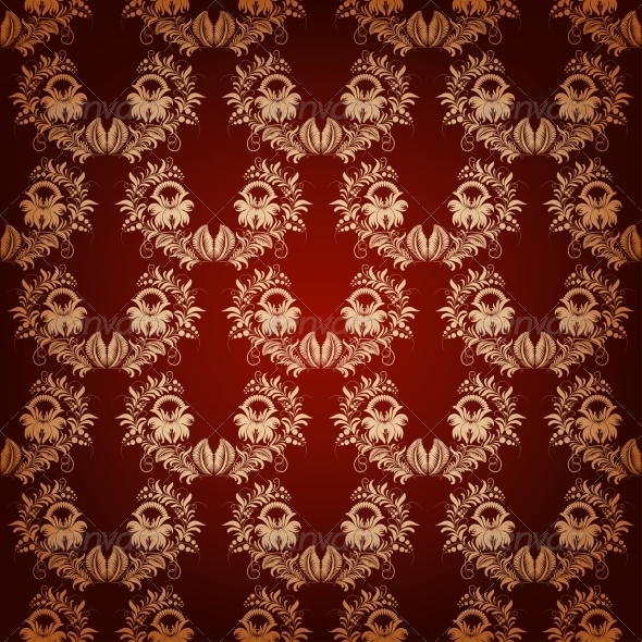 GraphicRiver Seamless with Elegant Damask Pattern 7206413