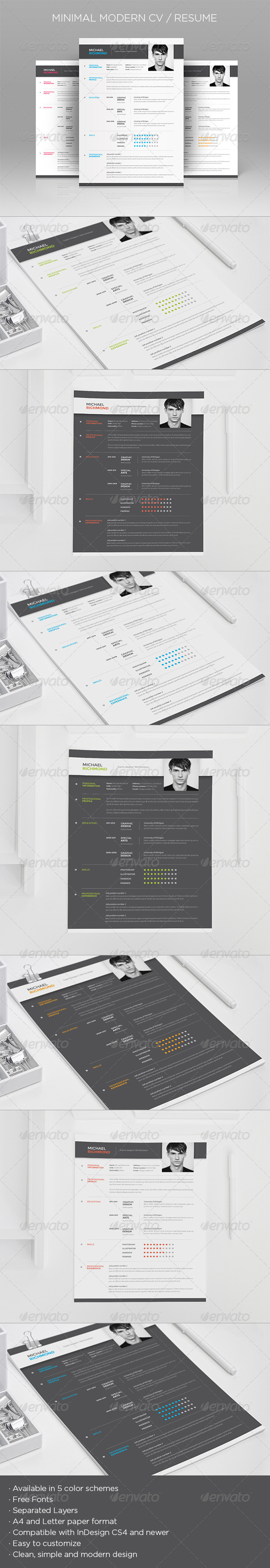 GraphicRiver Minimal Modern CV Resume 7207198