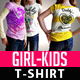 Girl Kids T-Shirt Mock Up - GraphicRiver Item for Sale