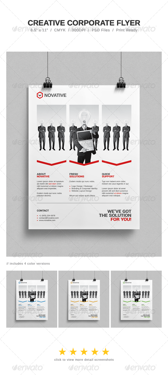 GraphicRiver Creative Corporate Flyer 7207796