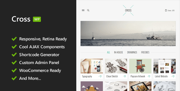 Cross - Minimal Responsive WordPress Theme